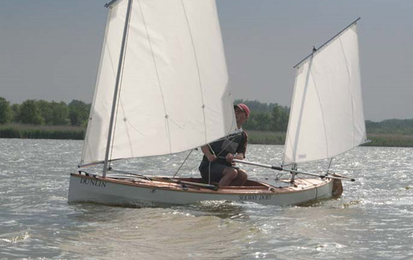 Plywood 14ft by 30in Sailing and Paddling Canoe