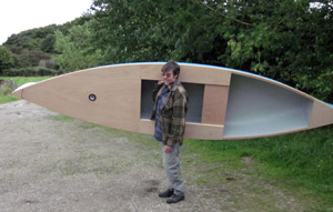 partial decked sailing canoe