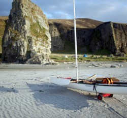 sailing canoe on Islay