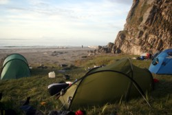 Wild campsite on Islay