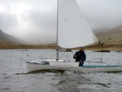 sailing canoe, west loch tarbet