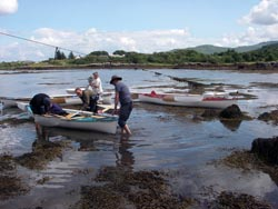 sailing canoes at salen