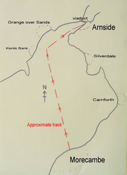 Map of trip to Arnside