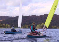 Open Canoe Sailing Group on Windermere