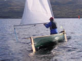 The Solway Dory Curlew - Open sailing canoe