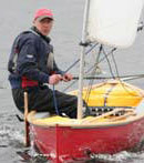 The Solway Sory Avocet sailing canoe