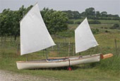 Sailing canoe Avocet with Lugsail Ketch Rig