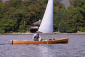 Avocet Sailing Canoe on Derwent Water