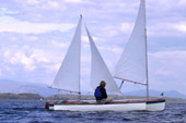 Trimaran with mizzen staysail