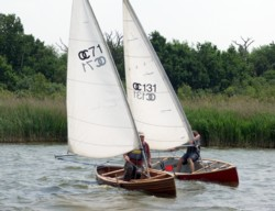 Sailing canoes on Hickling Broad