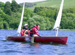 Avocet sailing canoe on ullswater
