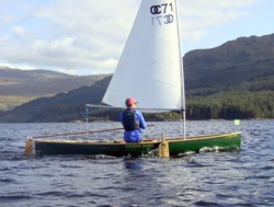 Curlew open sailing canoe